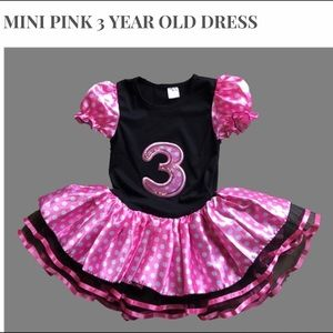 Other - Mini pink 1, 2 and 3 years birthday dress
